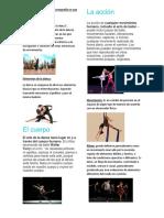 Elementos Principales de Coreografía en Una Danza
