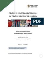 politica industrial en colombia.pdf