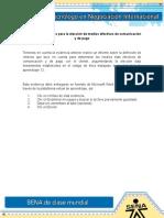 Evidencia 11 Criterios Para La Elección de Medios Efectivos de Comunicación y de Pago