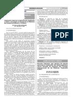 (37) RESOLUCION SUPREMA Nº 138-2017-PCM - Autorizan Viaje de La Ministra Del Ambiente a Chile y Encargan Su Despacho Al Ministro de Comercio Exterior y Turismo