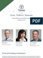 TSN Tyson Sept 2017 presentation