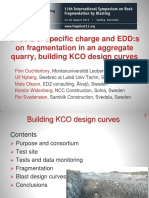 Effects of specific charge and EDD:s on fragmentation in an aggregate quarry, building KCO design curves