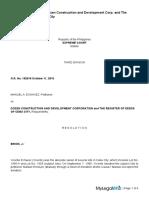 79manuel a Echavezb Petitionervsdozen Construction and Development Corporation and the Register of Deeds of Cebu City Respondents
