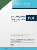 De la evolución fonética del latín al nacimiento de una nueva lengua, El francés y su correlato en español.pdf
