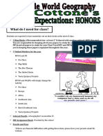 classroom expectations-honors