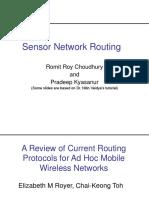 Ad-hoc Routing Protocols