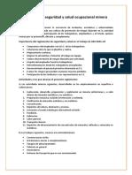 Reglamento de Seguridad y Salud Ocupacional