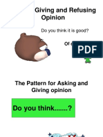 Ask for and Giving Opinion