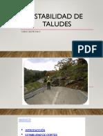Exposicion Sobre Estabilidad de Taludes