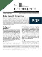 Fetal Growth Restirction Pb134