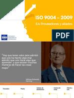 Numeral 6.4 ISO 9004 - Proveedores y Aliados