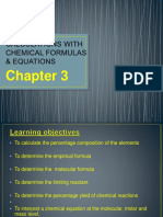 Chapter 3 -Calculations With Chemical Formulas