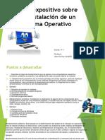 Taller Expositivo Sobre Pre-Instalación de Un Sistema Operativo