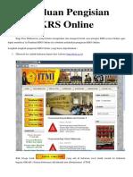 Panduan Pengisian KRS Online