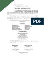 Board Resolution WESTODA
