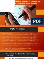 Global Digital Pen Market Is Estimated to Reach $4,260 Million By 2024, Says Variant Market Research