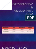 Expository Essay & Argumentative Essay