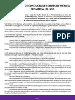 Codigo de Conducta PPM Provincia Jalisco