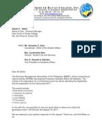 BMAP Bajada Letter