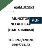 AFIS MUNCITORI NECALIFICATI