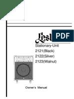 Leslie 2121 Instructions