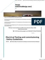 Electrical Testing and Commissioning -Safety Guidelines - Basic Electrical Designs