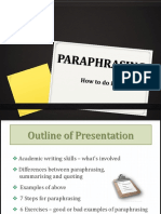 Tips to paraphrase effectively in English