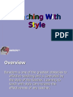 Style of Teaching