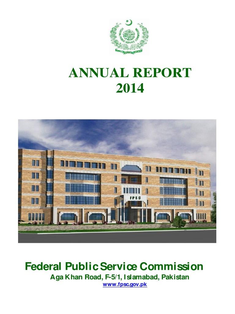 Fair Annual Report of FPSC-2014-final pdf | Civil Service