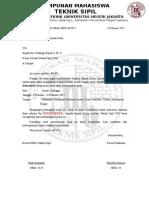 Surat Dispen Dan Dana Jurusan Baksos