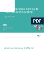 From Compressed Sensing to Representation Learning