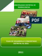 Plan 10463 Plan de Desarrollo Concertado Distrital Al 2011 2
