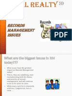 LL Realty- Biggest Issues in Record Management