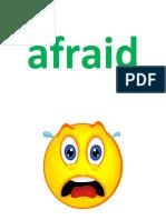 Word Card Feelings