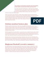 Membuat Business Plan Akan Membuat Seorang Pebisnis Mengetahui Arah Setiap Langkah Bisnisnya