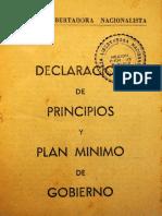 1946. Declaracion de Principios y Programa de Gobierno