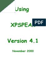 Xpspeak Manual