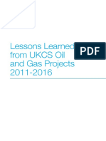 Oga Lessons Learned From Ukcs Oil and Gas Projects 2011 2016