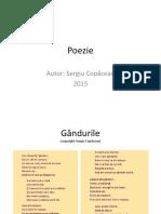 Poezie Gandurile Sergiu Copacean (c) 2015