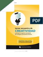 3 Encuentro de Creatividad. 1er Congreso Nacional de Docentes Pre-Universitarios
