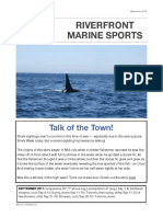 Riverfront Marine Sports Newsletter, September 2017