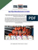API Pipe Manufacturers in India