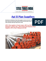API 5l Pipe Suppliers