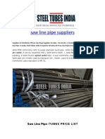 Saw Line Pipe Suppliers
