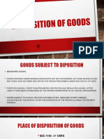 Disposition of Goods
