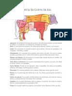 Cortes de Carne de Res 2