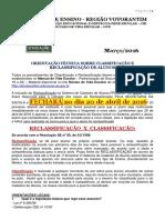 Orientações Técnicas Reclassificação CIE 2016