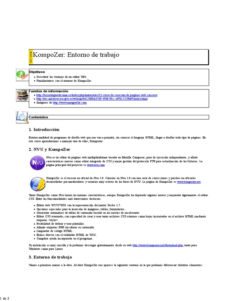 1-Entorno de Trabajo- Kompozer