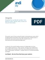 2015 Lex Mundi Guide to Business - Angola
