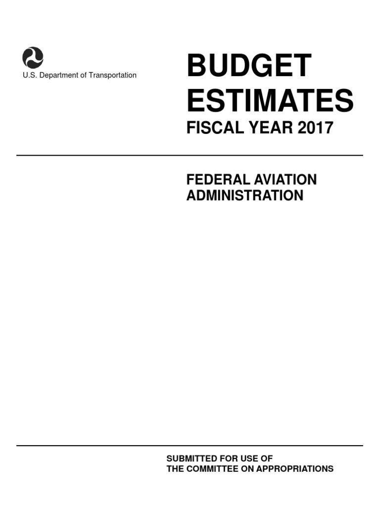 FAA FY 2017 CJ Budget Estimates | Air Traffic Control